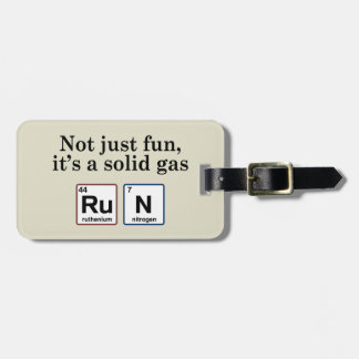 Running Solid Gas Elements Luggage Tag