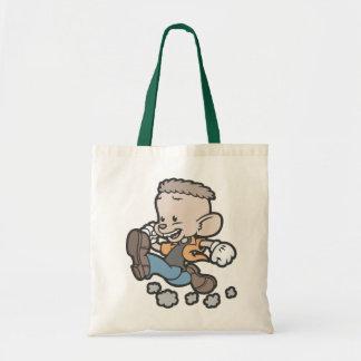 Running Spucky Budget Tote Bag