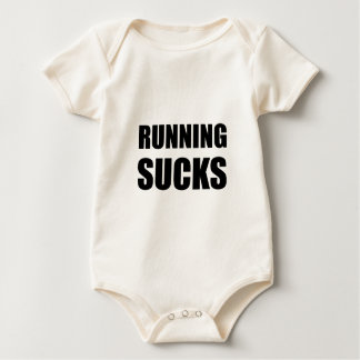 Running sucks baby bodysuit