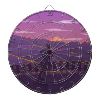Running sunrise dartboard