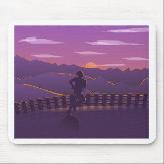 Running sunrise mouse pad