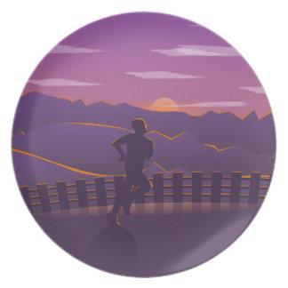 Running sunrise plate