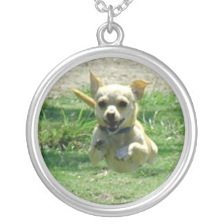 Running Tan Chihuahua Necklace