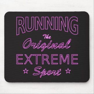 RUNNING, the original extreme sport (pink neon) Mouse Pad