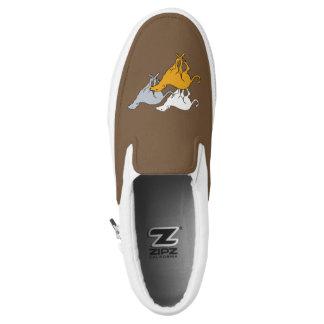 Running three slip on shoes