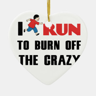 running to burn off the craziness ceramic heart decoration