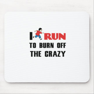 running to burn off the craziness mouse pad