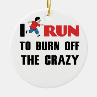 running to burn off the craziness round ceramic decoration