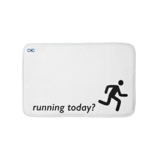 Running today? motivational bath mat! bath mat
