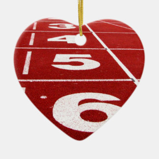 Running track ceramic ornament