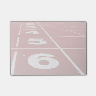 Running Track Post-it Notes