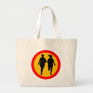 RUNNING TRAFFIC ROAD SIGN CANVAS BAGS