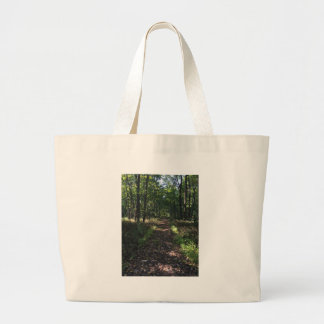 Running Trails are the best Trails Large Tote Bag
