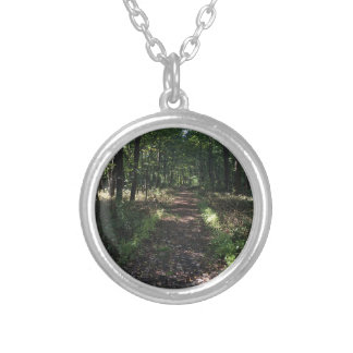 Running Trails are the best Trails Silver Plated Necklace