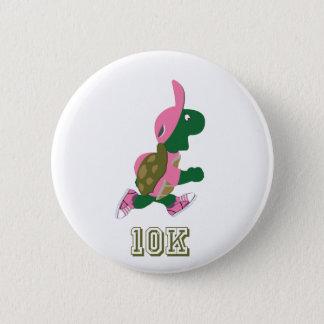 Running Turtle 10K - Pink 6 Cm Round Badge