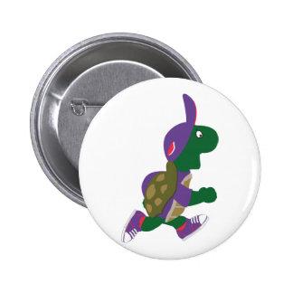 Running Turtle 6 Cm Round Badge