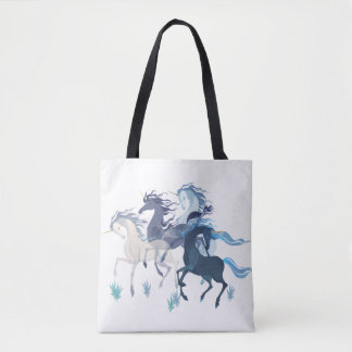 Running Unicorns bag with pattern on back
