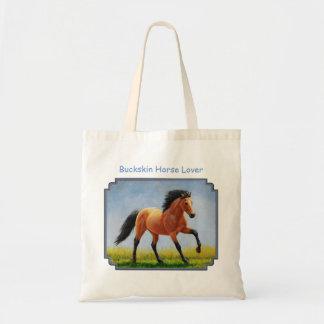 Running Wild Buckskin Horse Tote Bag
