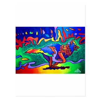 Running Wolf by Piliero Postcard