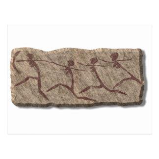 Running Women-stone Postcard