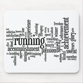 Running Word Cloud Mouse Pad