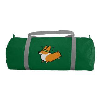 Running Workout Corgi Duffel Bag