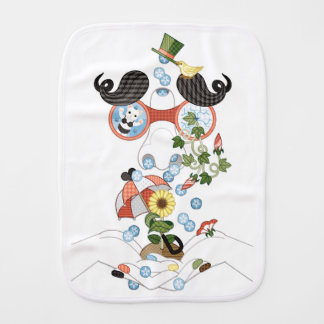 Runny nose of grace (remake) baby burp cloth