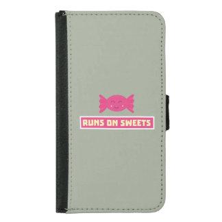 Runs in Sweets funny Z9s1b Samsung Galaxy S5 Wallet Case