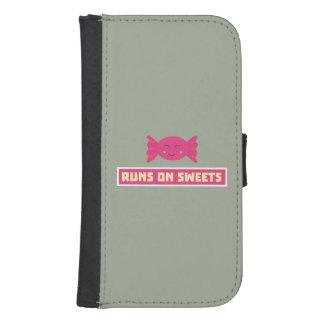 Runs in Sweets funny Z9s1b Samsung S4 Wallet Case