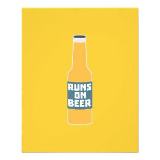 Runs on Beer Bottle Zcy3l 11.5 Cm X 14 Cm Flyer