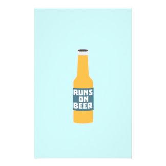 Runs on Beer Bottle Zcy3l 14 Cm X 21.5 Cm Flyer