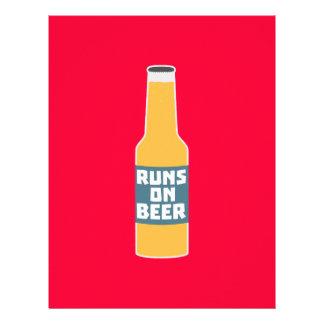 Runs on Beer Bottle Zcy3l 21.5 Cm X 28 Cm Flyer