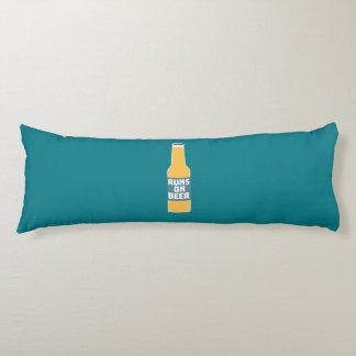 Runs on Beer Bottle Zcy3l Body Cushion
