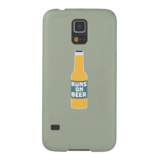 Runs on Beer Bottle Zcy3l Case For Galaxy S5