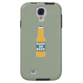 Runs on Beer Bottle Zcy3l Galaxy S4 Case