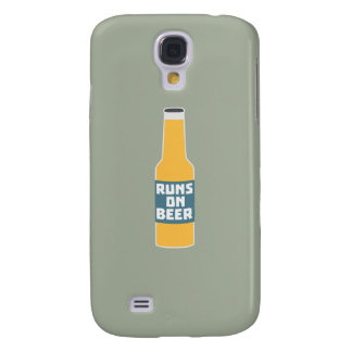 Runs on Beer Bottle Zcy3l Galaxy S4 Cover