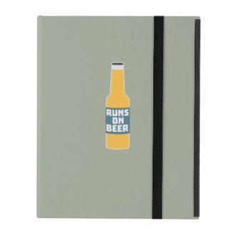 Runs on Beer Bottle Zcy3l iPad Folio Case