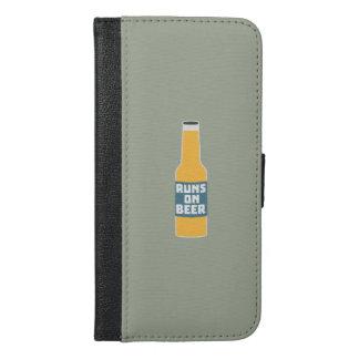 Runs on Beer Bottle Zcy3l iPhone 6/6s Plus Wallet Case