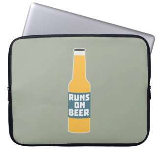 Runs on Beer Bottle Zcy3l Laptop Computer Sleeve