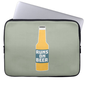 Runs on Beer Bottle Zcy3l Laptop Sleeve