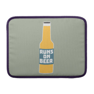 Runs on Beer Bottle Zcy3l MacBook Sleeve