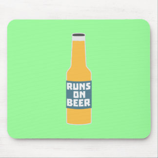Runs on Beer Bottle Zcy3l Mouse Pad