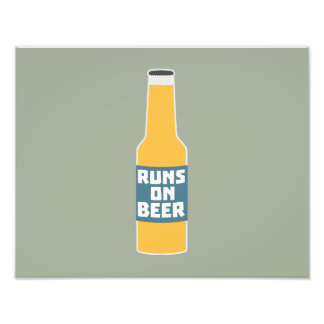 Runs on Beer Bottle Zcy3l Photo