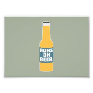 Runs on Beer Bottle Zcy3l Photograph