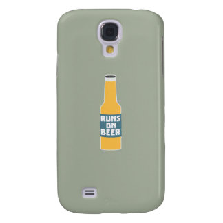 Runs on Beer Bottle Zcy3l Samsung Galaxy S4 Cases