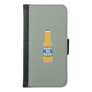 Runs on Beer Bottle Zcy3l Samsung Galaxy S6 Wallet Case