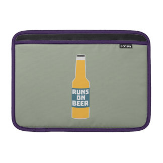 Runs on Beer Bottle Zcy3l Sleeves For MacBook Air