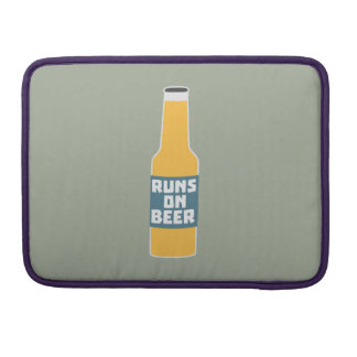 Runs on Beer Bottle Zcy3l Sleeves For MacBook Pro
