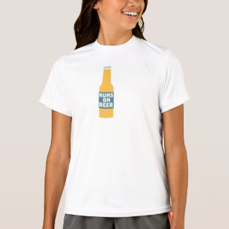 Runs on Beer Bottle Zcy3l T-Shirt