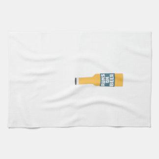 Runs on Beer Bottle Zcy3l Tea Towel